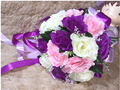 2017 Люкс Для Невесты Свадебный Букет Дешевые Новый Фиолетовый и Белый Ручной Работы Искусственный Пион Цветок Свадебные Букеты, Свадебные Букеты