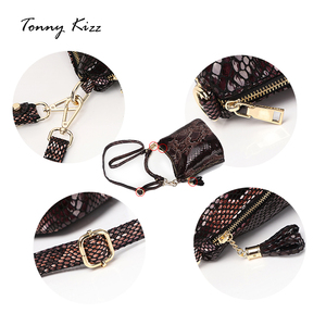 Image 3 - Tonny Kizz יוקרה תיקי נשים מעצב לשאת שקיות עור דלי כתף שקיות מתפתל עם ציצית קטן crossbody שקיות