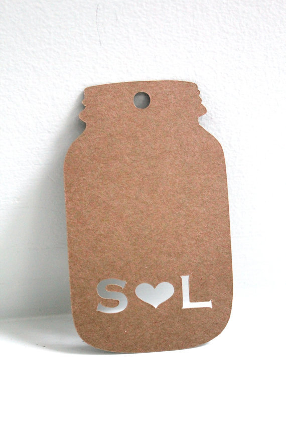 Personalized Mason jar Gift tags Wedding Favour wishing tree tag baby ...