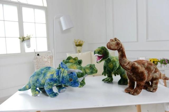 Симпатичные Lop 45 см парк юрского периода динозавров плюшевые трицератопса тиранозавр Cryptoclidus стегозавр игрушки куклы