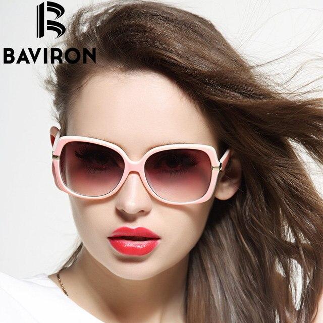 BAVIRON Lindo Óculos Oversized Óculos De Sol Das Mulheres de Plástico  Roupas Casuais Feminino Olhar Elegante a90a2d394d