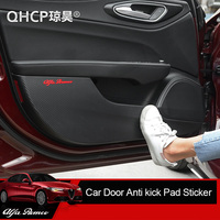 QHCP Car Styling Carbon Fiber Car Door Anti kick Sticker Anti dirty Sticker Protection Side Edge for Alfa Romeo Giulia Stelvio