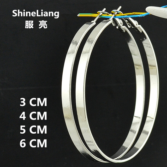 85b5e6ab6fd5f4 Star wide simple Big Circle Hoop Earring for women exaggeration personality  gold silver black round youth student girl wholesale