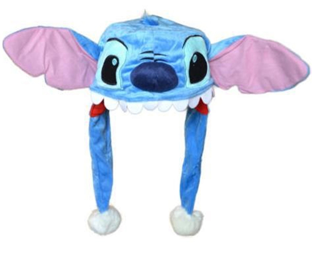 Anime Cartoon Blue Stitch Plush Hats Dolls Stuffed Toys Cosplay Winter Hat  Cap a7ee5746a58