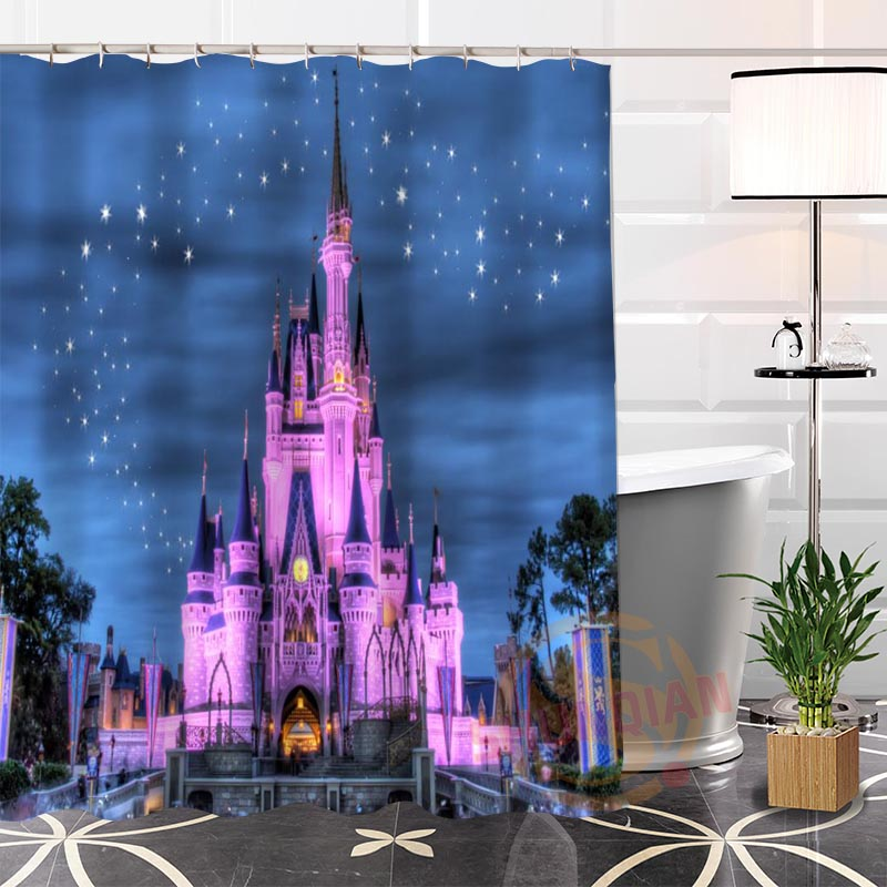 Best Nice Custom Magical Castle Shower Curtain Bath Curtain Waterproof Fabric Bathroom MORE SIZE LQ#18