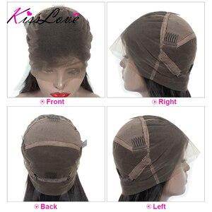 Image 5 - Pelucas de cabello humano con encaje completo para mujeres negras, nudos blanqueados prearrancados, pelucas de encaje completo, cabello brasileño ondulado, beso de amor, cabello Remy