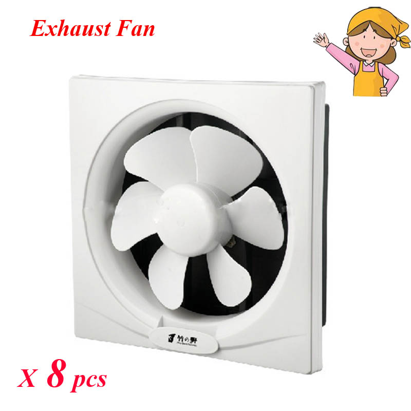 8pcs/lot Colorful Ventilation Fan Rotary Vane Plastic Silent Fan For  Household Kitchen ZHUYE APB200