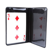 Black Leather Tender Coin Tricks magician Trick Gimmick Close Up Coin Props Trick Toys for Children