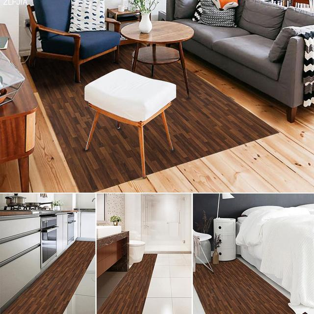Waterproof Anti Skid Scratch Wall Floor Stickers Diy Imitation Wood Decorative Tile