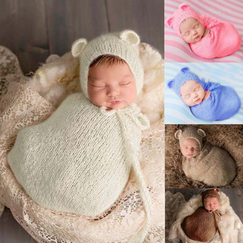 Neugeborenen Fotografie Requisiten Zubehör Kostüm Baby Häkeln ...