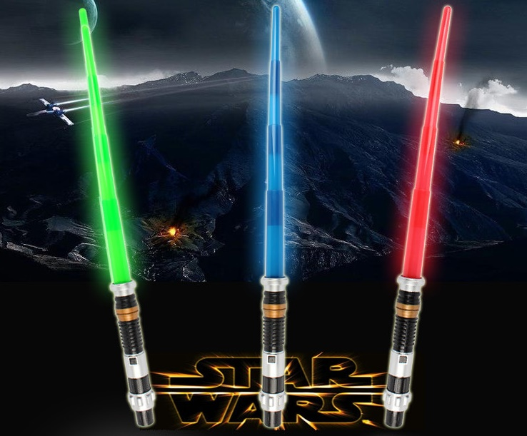 Cosplay Toys Star Wars Weapon Lightsaber Light Saber Telescopic Star Wars Weapons Sword with Light Sounds PVC Action Figure Toys