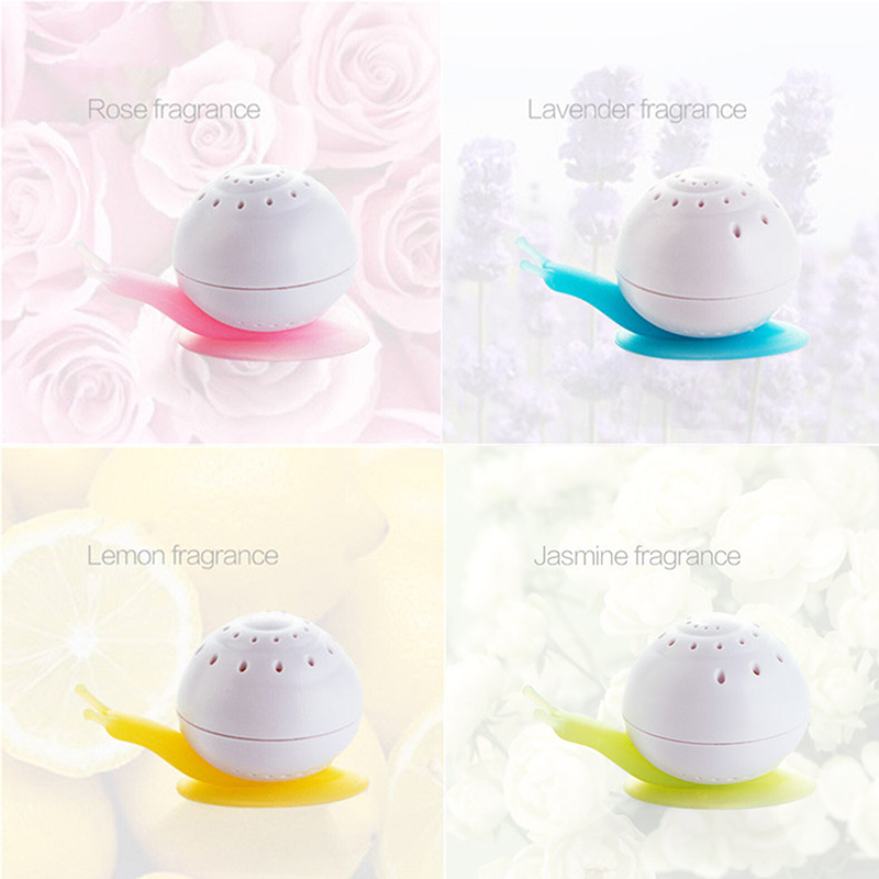 New Indoor Air Freshener Cute Snail Shape Suction Cup Wardrobe Bedroom Bathroom Toilet Deodorant Solid Air Freshener Reusable