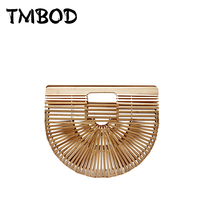 Hot 2017 Summer Style Beach Tote Design Bags Women Bamboo Handbags Lady Bag Hollow Out Straw Day Clutch Bag For Female an695 handmade flower appliques straw woven bulk bags trendy summer styles beach travel tote bags women beatiful handbags