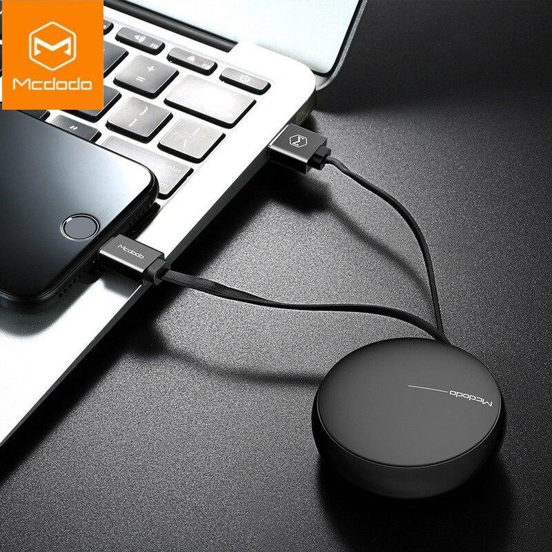 MCDODO Cabo USB Retrátil Para o iphone Da Apple 8X7 6 s 6 mais Rápido Cabo De Carregamento Do Carregador Do Telefone Móvel Com Fio Cabo Cabo de Dados Usb