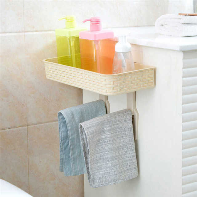 Creative Wall Mounted Storage Rack in Shower Room Mop Organizer Holder Brush Broom Suction on Wall Hanger Storage Rack Kitchen T