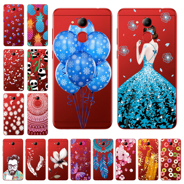 """Soft TPU 5.2"""" Huawei Honor 6C Pro Case Cover Silicone Painted Transparent Phone Back Huawei Honor V9 Play Honor 8 Pro Case"""