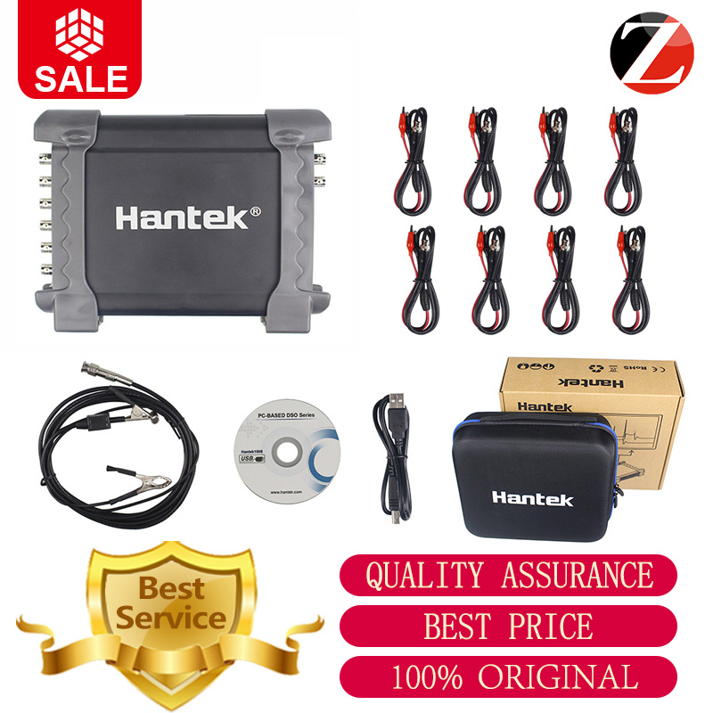 Hantek oscilloscope 1008C  portable USB oscilloscope 8 Channels Program Generator Automotive Oscilloscope PC Osciloscopio-in Oscilloscopes from Tools    1