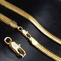 Mężczyzna naszyjnik łańcuch węża wybity złota wypełnione naszyjnik choker punk hip hop podbródek biżuteria męska casual retro akcesoria 20 cali