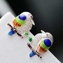 s925 sterling silver earrings riches and honour bird earrings handmade cloisonne earrings 2019 fashion jewelry character silver product s925 pure silver jewelry fashion earrings wholesale handmade lady hetian jade earrings