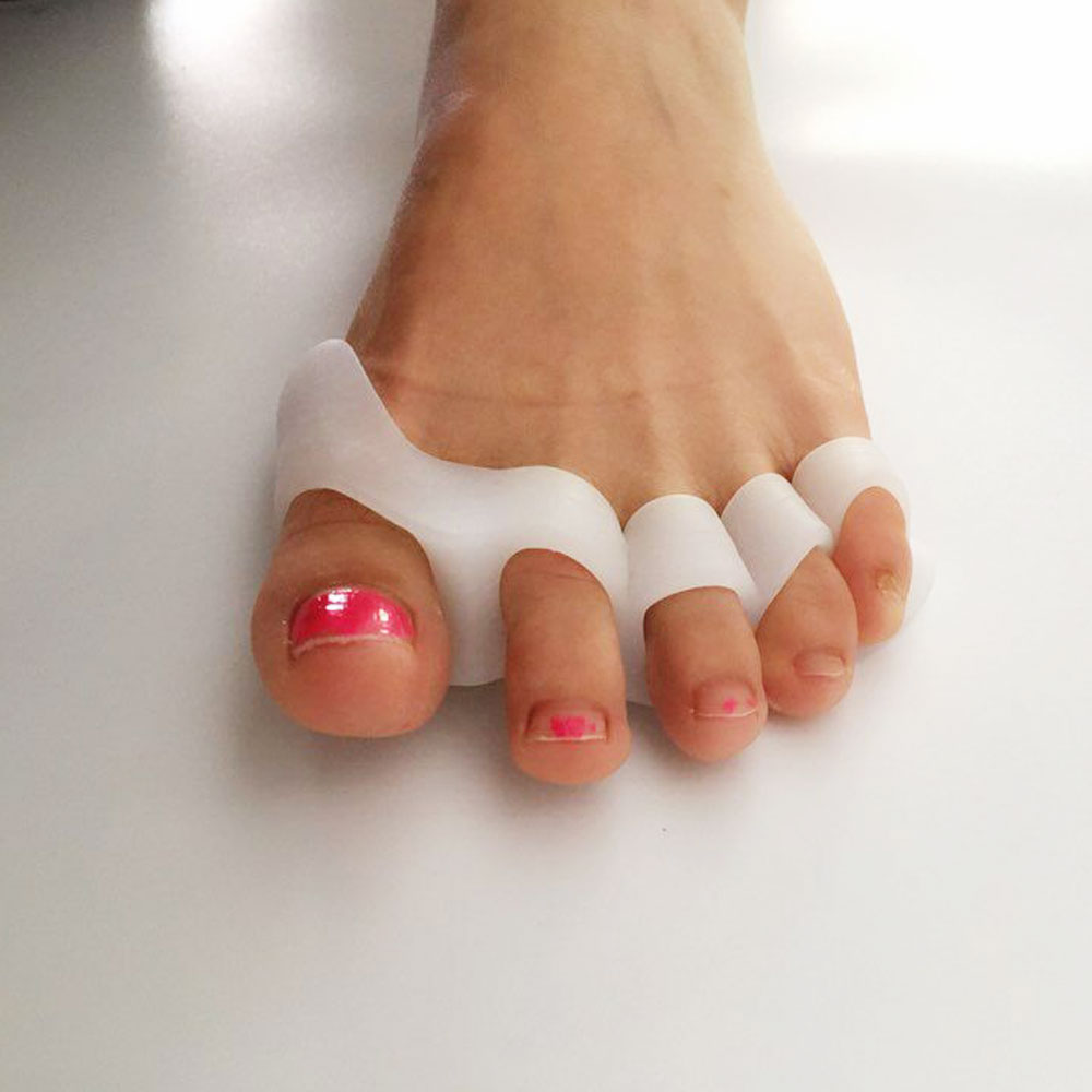 1Pair Gel Hammer Toe Pads Cushion Corrector & Straightener for Overlapping,Curled, Curved, Claw & Mallet Toe Relief 5