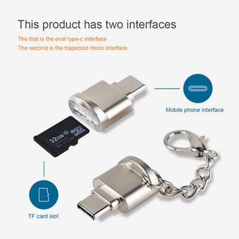 Przenośny czytnik mini kart typu C Micro SD TF czytnik kart pamięci adapter otg USB 3 1 czytnik kart na telefon tanie i dobre opinie Pojedyncze Karty tf Zewnętrzny Card Reader TYPE-C centechia