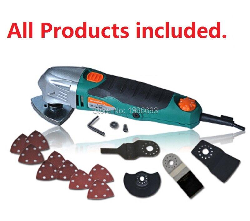 Scies oscillantes, outil électrique multifonction rénovateur, scie rénovatrice, outils électriques pour le travail du bois. Avec étui de transport en plastique