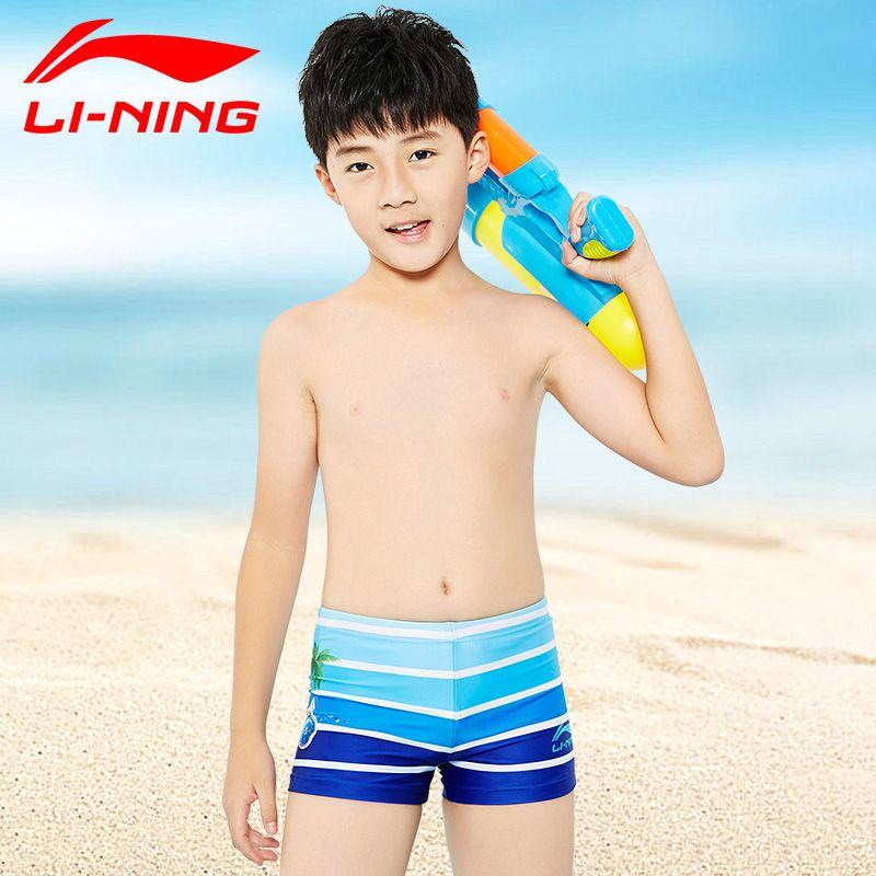 5543d77b21 LI NING Children Swim suit New boys professional Swimming trunks Sport  Boxer Shorts Kids boy Quick Dry Men's Swim Shorts surfing-in Men's Trunks  from Sports ...