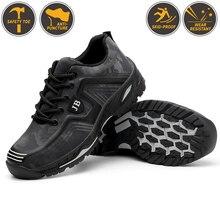 Мужская промышленная Рабочая обувь со стальным носком; Мужская Уличная защитная обувь с защитой от проколов