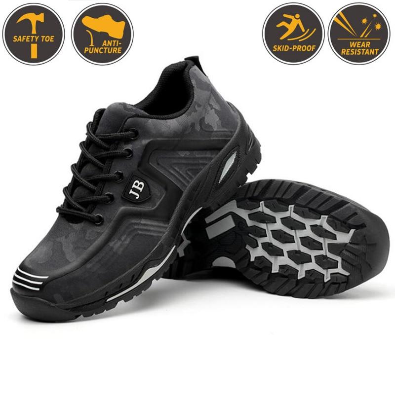 Мужская промышленная Рабочая обувь со стальным носком; Мужская Уличная защитная обувь с защитой от проколов-in Защитные сапоги from Безопасность и защита