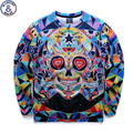 Mr.1991 бренд молодежный бренд 3D Многоцветный череп печатные толстовки мальчики подростки Весна Осень тонкие кофты большие дети кофты W8