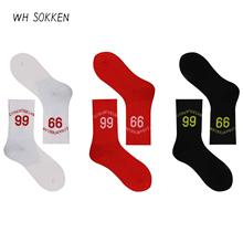 WH SOKKEN No. 99 Alita Fighting Socks couple combed cotton socks Sports and Leisure Novelty Gift