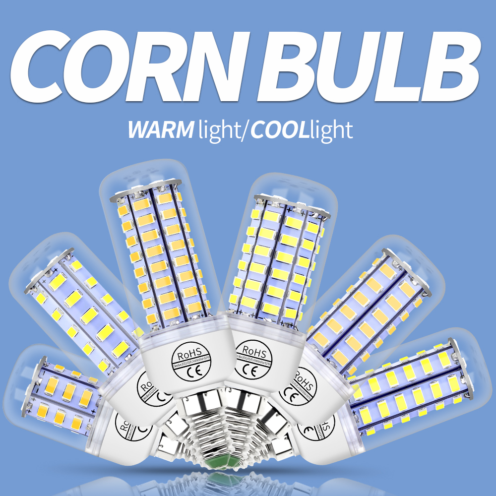 E27 Led Lamp 220V E14 Led Corn Bulb 230V SMD 5730 Light 24 36 48 56 69 72leds Replace Lampada for Pendant Light Ultra Bright