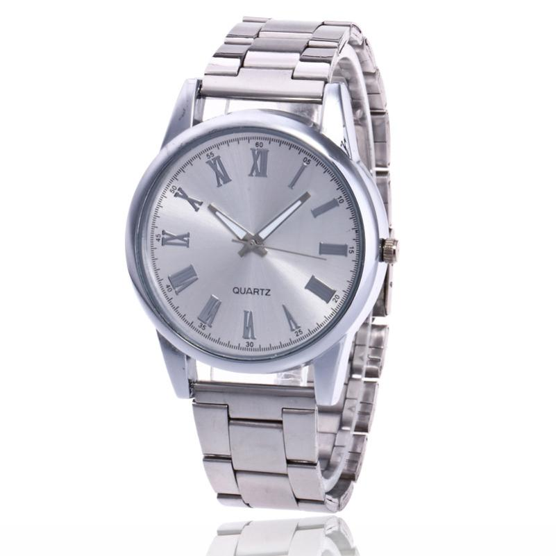 Womens Watch 2019 Luxry Fashion Silver Stainless Steel Band Round Analog Quartz Round Wrist Watch Watches Female Reloj Mujer A1