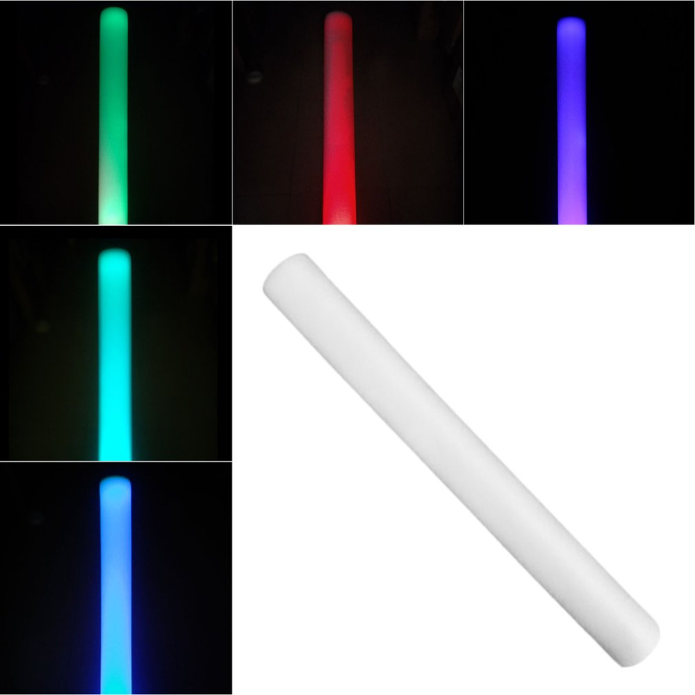 LED Foam Light Seven Colors Changing Stick LED Stick Wands Rally Rave Cheer Batons Party Wedding Flashing Glow Stick