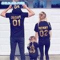 2017 лето семьи сопоставления одежда shortsleeve семья посмотрите наряды хлопок мать и дочь одежда отец сын одежда