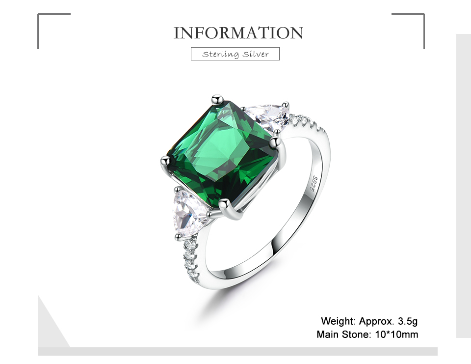 Honyy Emerald  925 sterling silver rings for women NUJ092E-1 -pc (2)