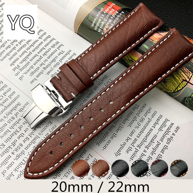 20mm 22mm Universal Cow Leather Watchband Watch Strap for Zenith for Hamilton fo