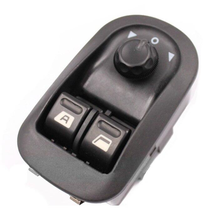 6554. WA Fenêtre Electric Power Commutateur Miroir Bouton Fit Control pour PEUGEOT 206 306 Noir