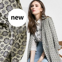 new French brand floral jacquard fashion dress skirt jacket coat fabric material