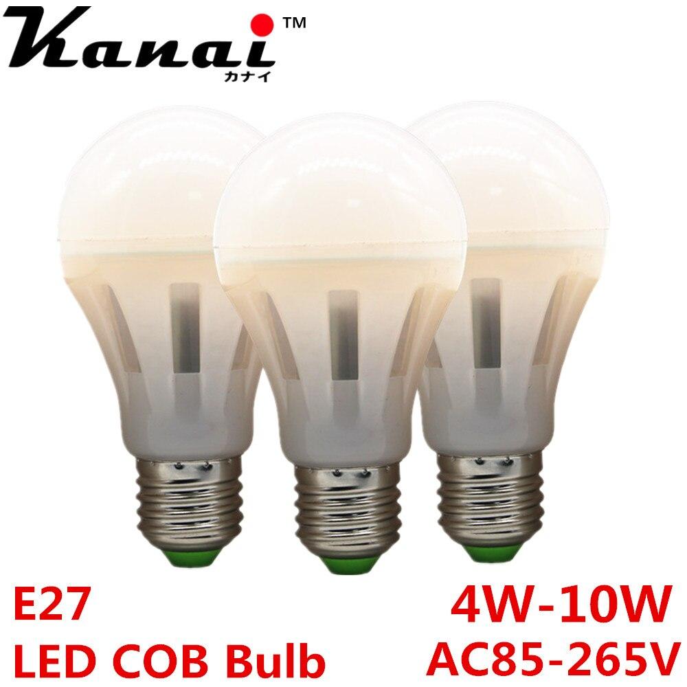 MCOB Spot E27 led light bulbs AC110V 220V 4W 6W warm white 3000K Lampada LED Lamp Ampoule LED Candle Luz Bulb Chandelier