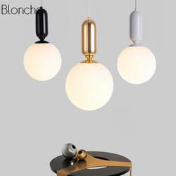 Современные светодио дный Стекло подвесные светильники лампы Nordic молоко Глобус Hanglamp для Обеденная Кухня бар домашнего декора светильники