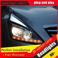 Auto Clud Car Styling For Nissan Teana LED Headlight 2012 Altima Headlight DRL Lens Double Beam