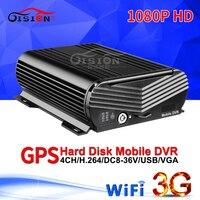 Nowy 1080 P 3G GPS WIFI 4CH wideo rejestrator mobilny HD pojazdu HDD Dvr w czasie rzeczywistym kamery monitoringu CCTV bezpieczeństwa system 24 H pilot zdalnego Mdvr w Rejestratory wideo do nadzoru od Bezpieczeństwo i ochrona na
