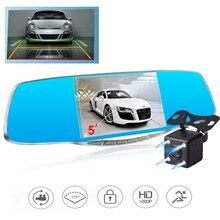 С двумя объективами камеры автомобиля зеркало заднего вида авто видеорегистраторы автомобилей dvr рекордер видео регистратор видеокамера полный hd1080p ночного видения даш cam