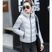 2017 NEW WOMEN WINTER JACKET SHORT HOODED COAT THICKEN WARM FEMALE PARKAS COTTON PADDED HOT SALE HIGH QUALITY ZL472