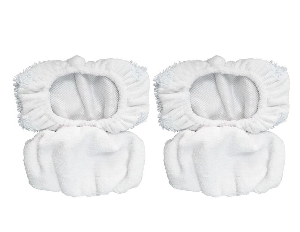 Microfiber Bonnets for Oreck Steam Mop 2 Heavy Duty Floor Bonnets& 2 All Purpose Floor Bonnets Cleaning Cloth Replace KL-C018627 1pcs euro pro shark steam mop replacement microfiber pads s3250 3250 s3202 3202 s3101 3101