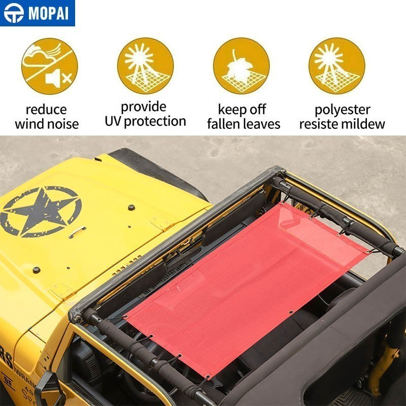 Image 5 - MOPAI Car Top Sunshade Cover for Jeep Wrangler TJ 1997 2006 Car Trunk Roof Anti UV Sun Protect Insulation Hammock Bed Rest Net-in Car Covers from Automobiles & Motorcycles
