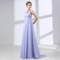 2018 Elegant Chiffon Bridesmaid Dresses Long Plus Size A line One Shoulder Beaded Floor Length Women Long Wedding Party Dresses