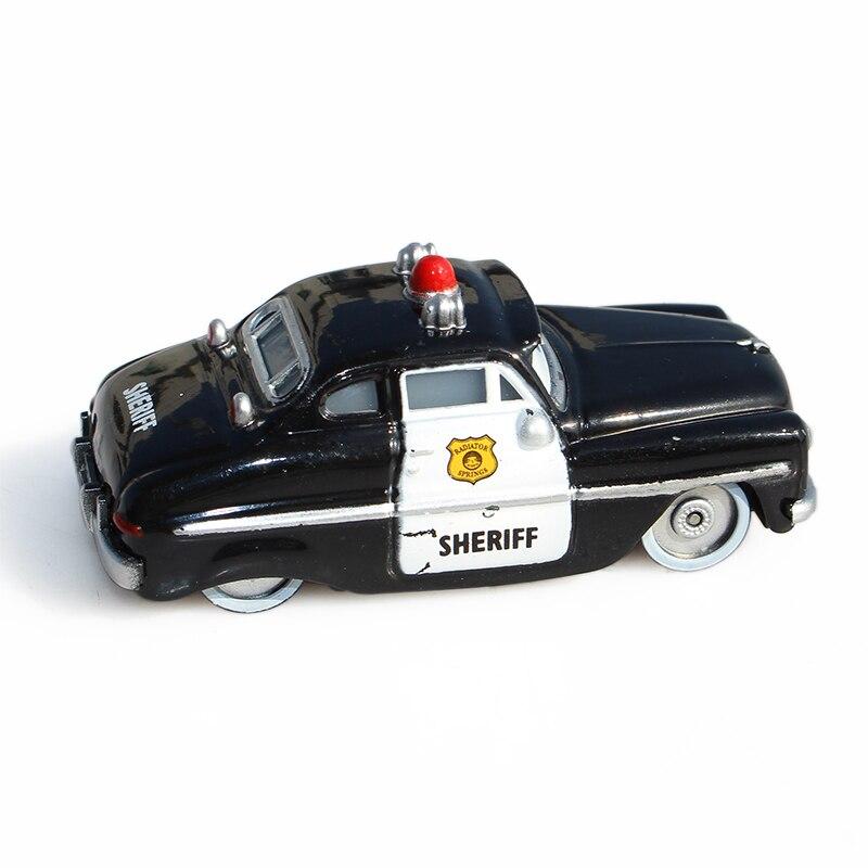Disney Pixar Cars 2 Police Sheriff Diecast Metal Alloy Model Car