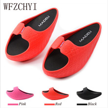 Women Fitness Weight Loss Massage Slippers Female Negative Heel Stovepipe Toning Shoes Sneakers Drag Wedges Platform Swing Shoes